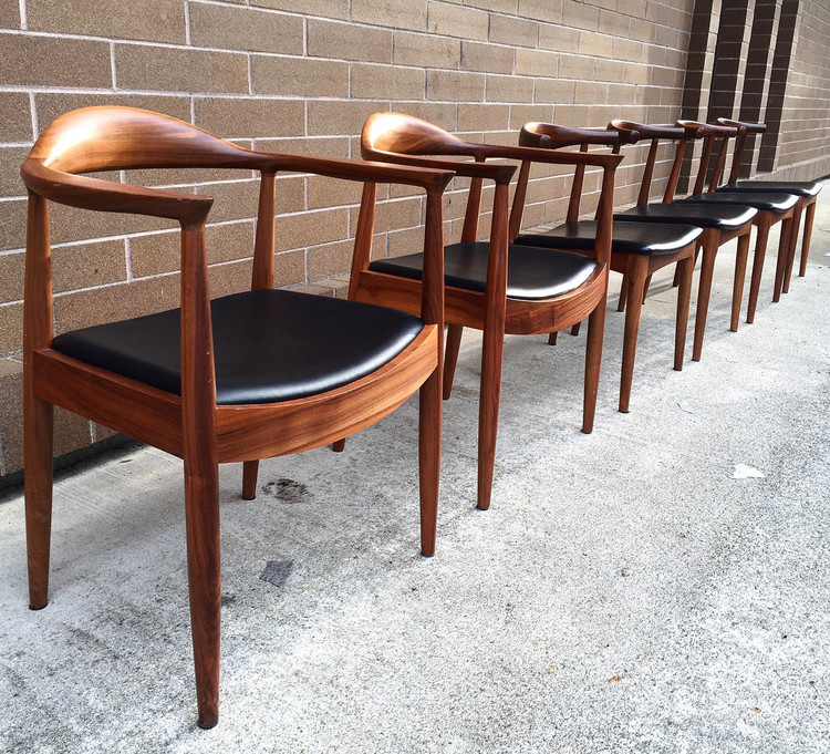 mid century dining chairs Hans Wegner styled Mid Century Dining Chairs — Mid And Mod mid century dining chairs