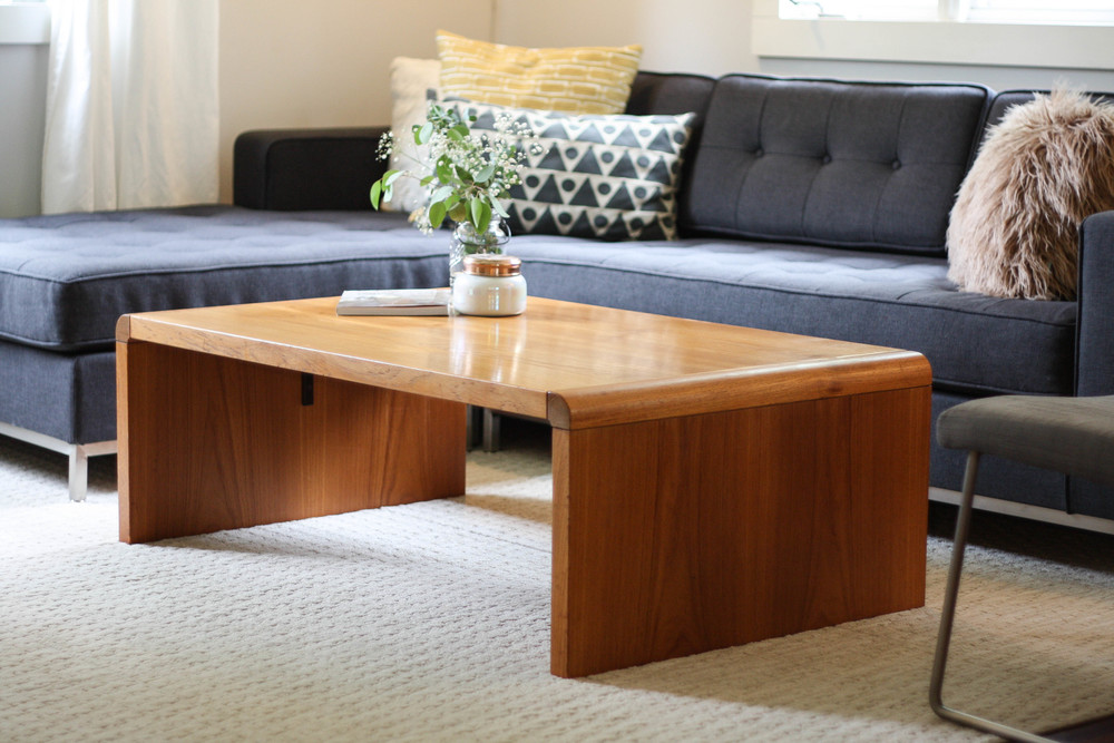 Teak Waterfall Coffee Table By Nae Denmark Mid And Mod