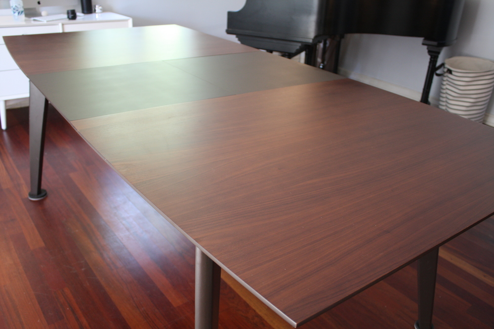 Mid Century Walnut Dining Table W Leaf Mid And Mod - Mid century modern dining table with leaf