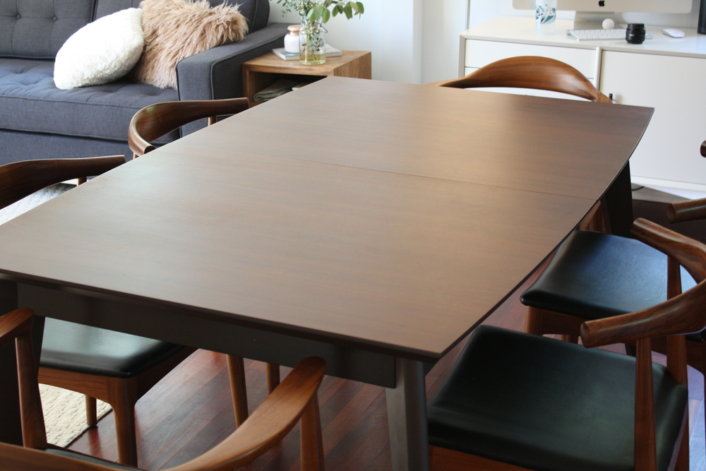 Available Now Is Our Stunning Mid Century Modern Walnut Dining Table With A Hidden  Butterfly Leaf.