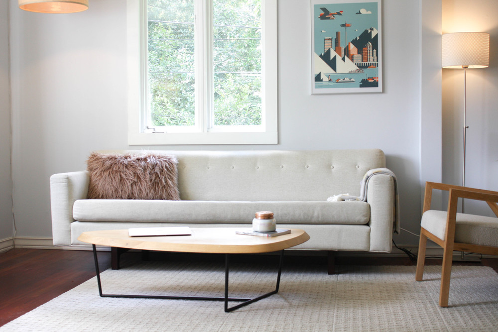 Delicieux The Rochelle Sofa By Gus Modern Has A Mid Century Modern Flare. It Has A  Striking Back Detail That Is Perfect For Placing Your Sofa In The Middle Of  The ...