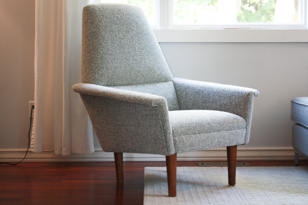 This Stunning Mid Century Chair Is Very Much In The Manner Of Adrian  Pearsall With The Sculpted Walnut Legs, But Without An Original Makeru0027s Tag  We Canu0027t ...