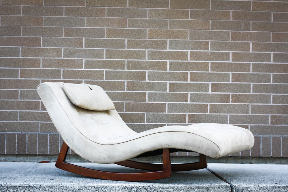 For your consideration is a stunning lounge chair in the manner of Adrian Pearsall. Known as the  wave  chaise for itu0027s beautiful curves. : adrian pearsall rocking chaise - Sectionals, Sofas & Couches