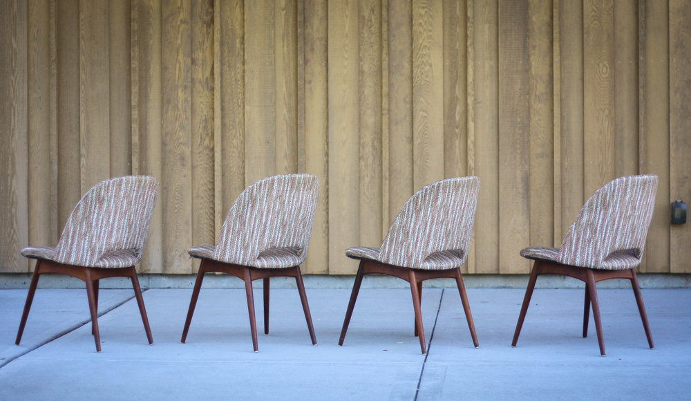 The 1404 C Chair, Also Known As The Scoop Chair, Was Designed By Adrian  Pearsall For His Company Craft Associates. They Feature Solid American  Walnut Legs ...