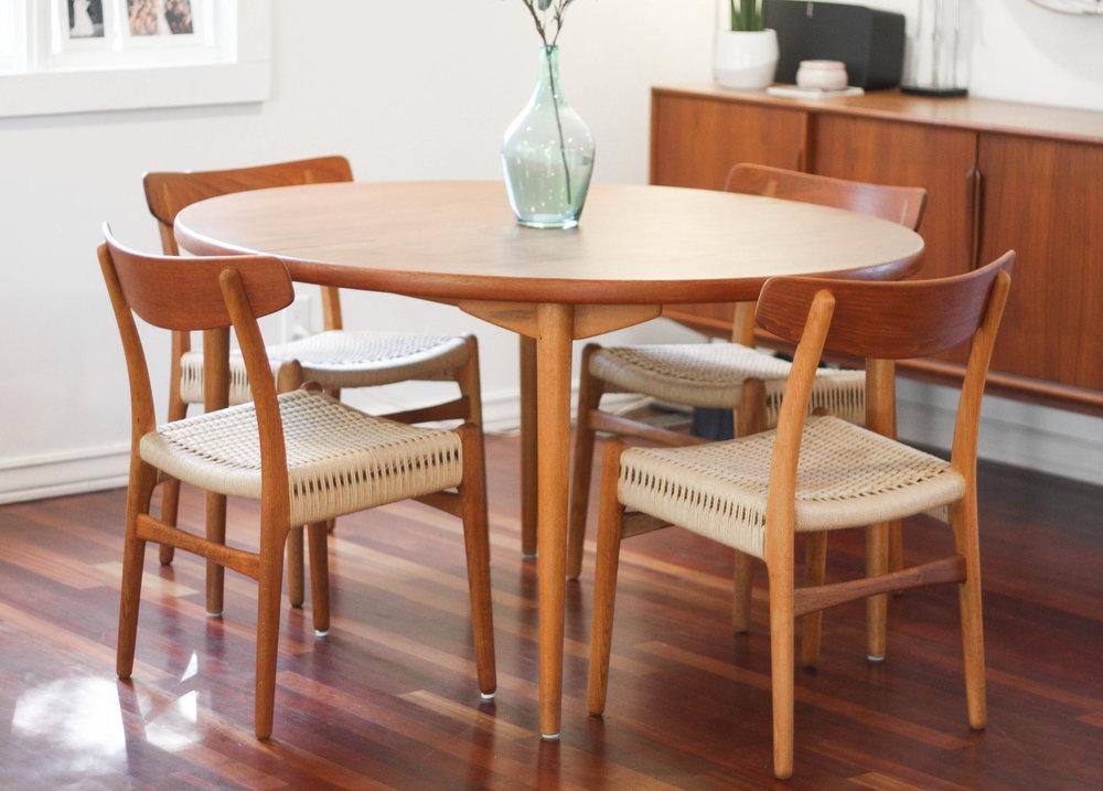 scandinavian teak dining table seats up to 12 by moreddi sold rh midandmod com