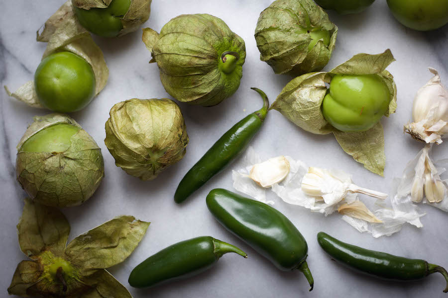 Tomatillos and Chiles