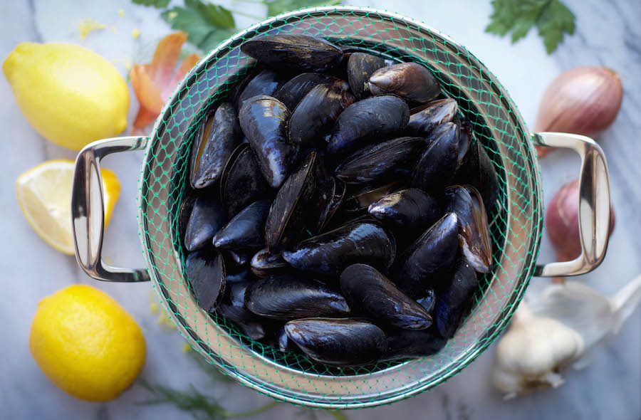 Mussels with Lemon
