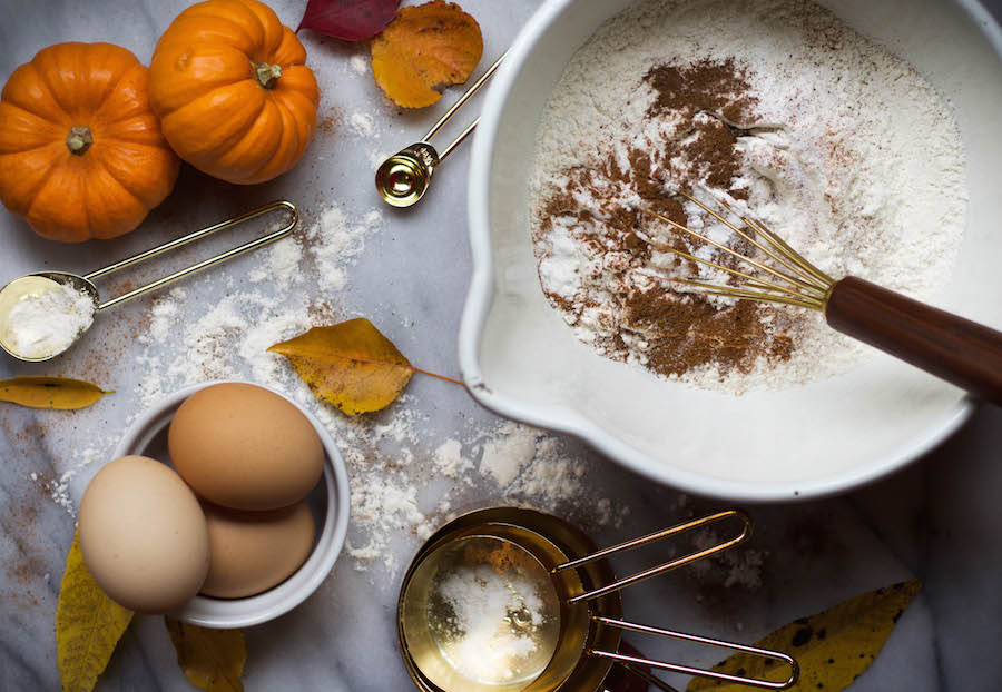 Ingredients for Pumpkin Spice Muffins