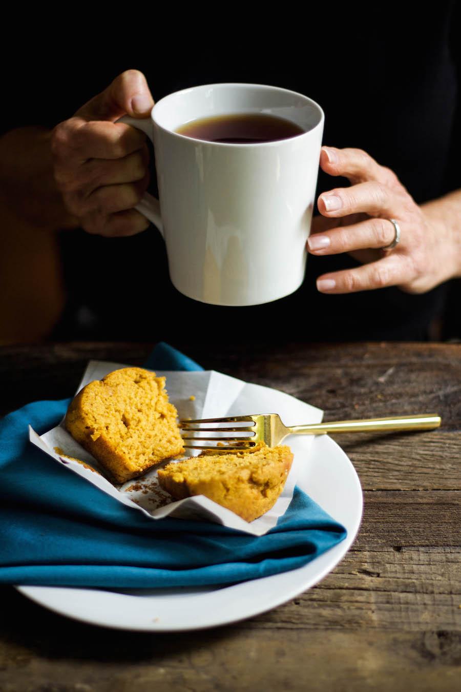 Pumpkin Spice Muffin with Tea