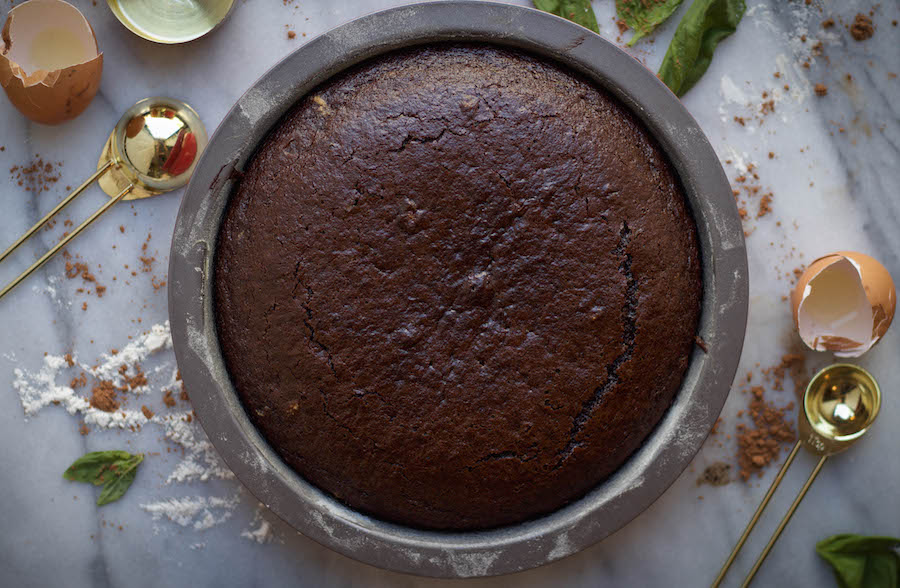 Molly's Chocolate Cake with Basil Mascarpone Buttercream ...