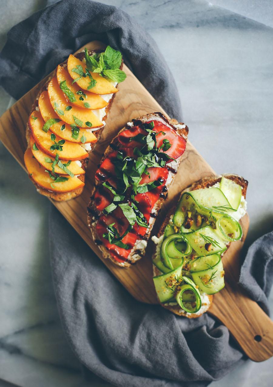 Summer Toasts, 3 Ways