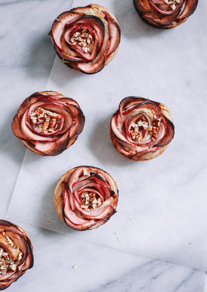 Rose Apple Brie Bites