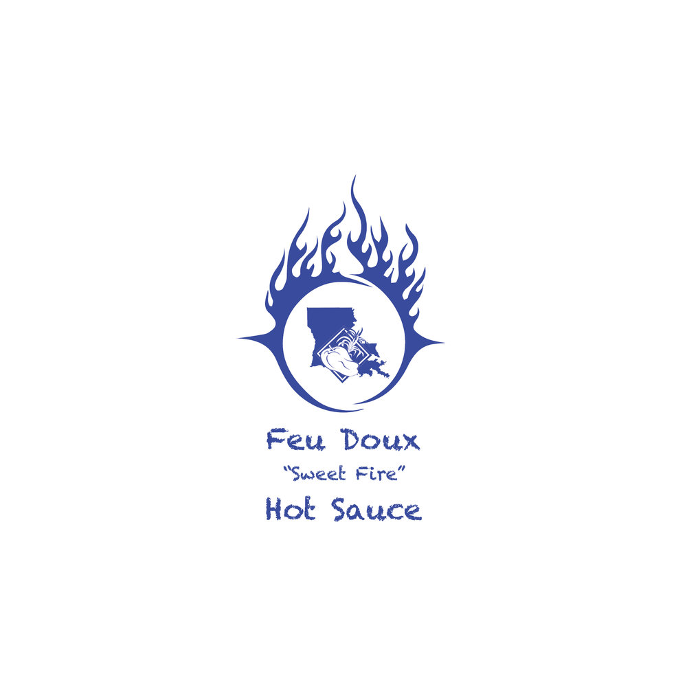 Feu Doux Hot Sauce Logo Design