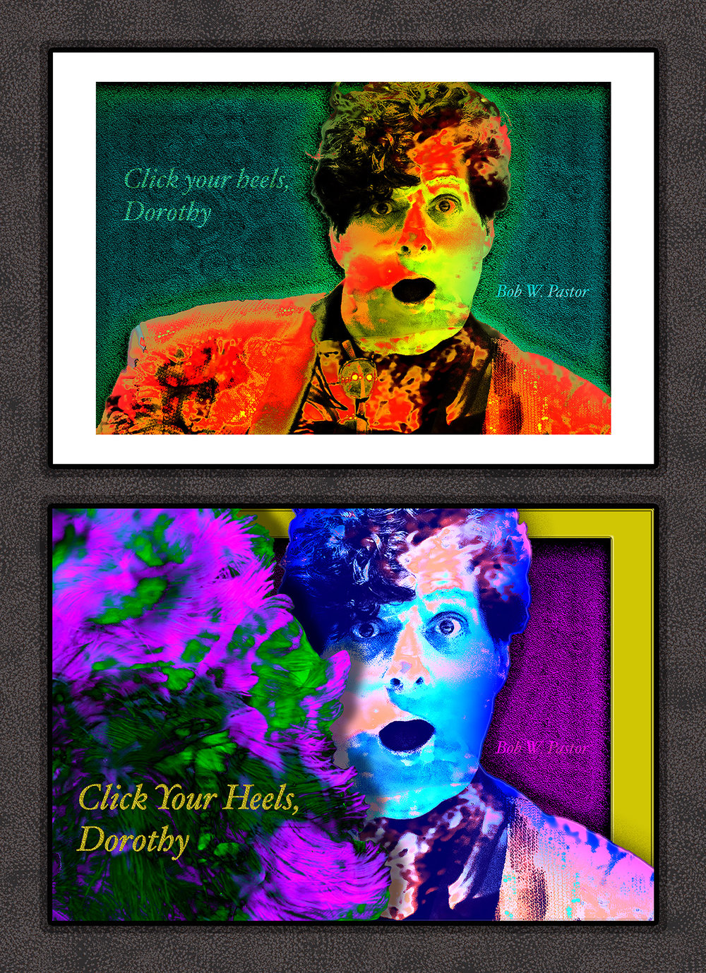Bob W. Pastor - December 4, 1959 – December 6, 2015The top image was part of a limited series of 25 gallery prints accompanied by  certificates of authenticity signed by me, the artist. They were sold for $200 each with $100 of every purchase donated to St. Jude's Children's Hospital in Bob's name.The bottom image was presented to Bob's surviving partner, Randy, as a one of a kind gallery print accompanied by a certificate of authenticity.