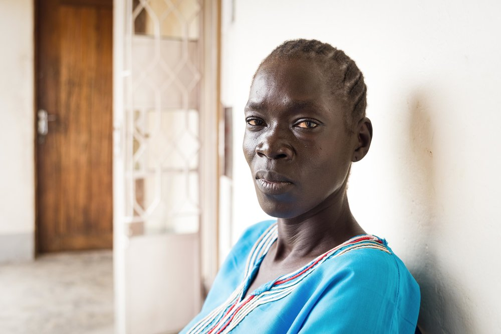Wilma, 37, fled to Uganda three years ago.