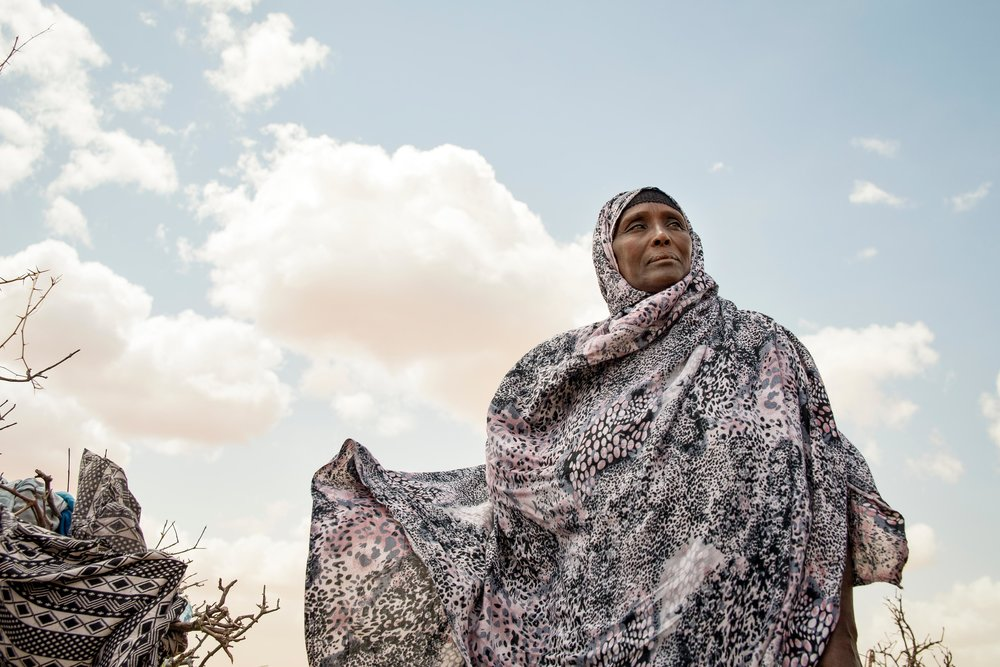 Samey Alasow, 50, stands outside her home on the outskirts of Hadado Town in Northern Kenya. Recurrent droughts in the Horn of Africa have led to poor crop production and widespread food insecurity. More than 2.6 million Kenyans lack reliable access to nutritious food according to the United Nations. That number is expected to rise in the coming months.
