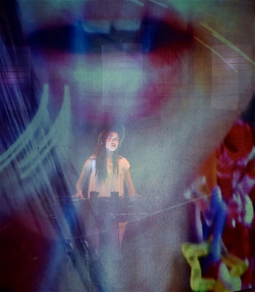 Kimie Tsukakoshi as HANAKO. Animation by Tiffany Atkin. Photo by Barbara Lowing. HANAKO | Brisbane Festival 2016