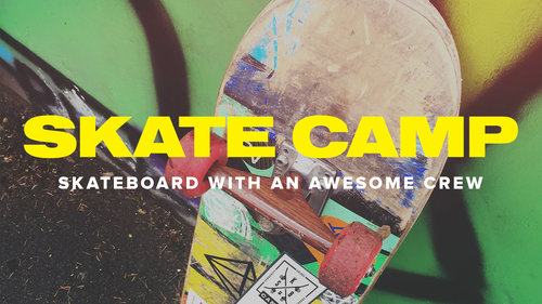 Registration Closed  - We're sorry, but we have closed registration for Skate Camp 2018 because we have filled to our capacity! We look forward to serving you through many of our other 2018 Summer Camp offerings.