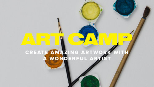Registration Closed  - We're sorry, but we have closed registration for Art Camp 2018 because we have filled to our capacity! We look forward to serving you next year.