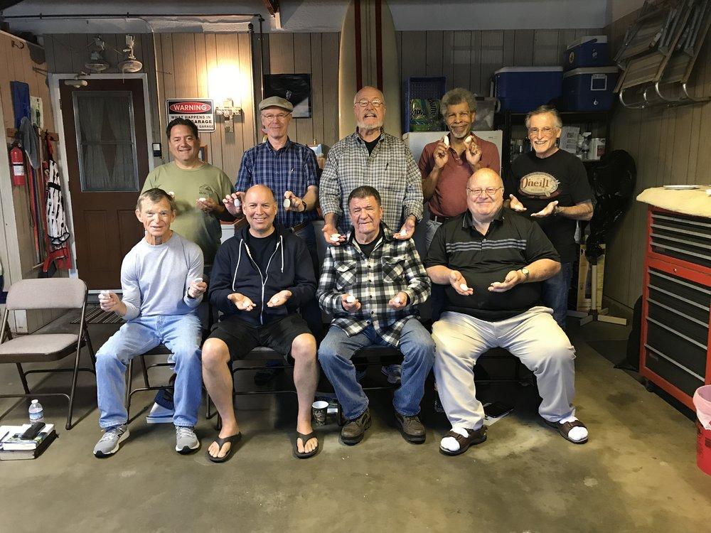 Jack Davis (bottom left) and the Garage Fellowship