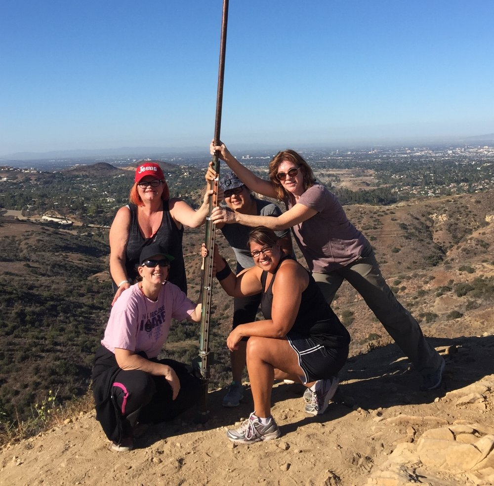 Some of the epic Bridge hiker ladies in action!