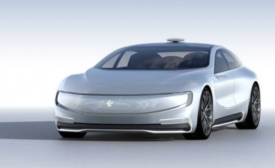 An electric car that can drive itself, the LeSEE remains a concept car for now