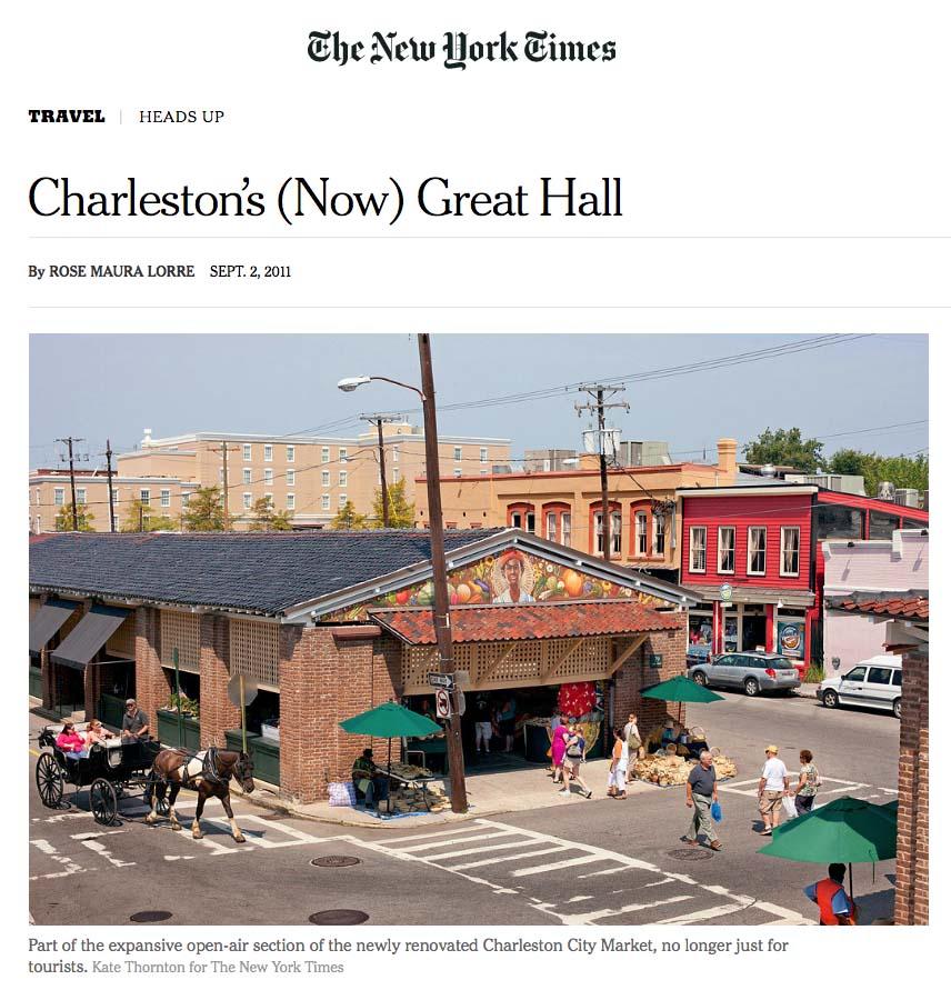NY Times Charleston City Market
