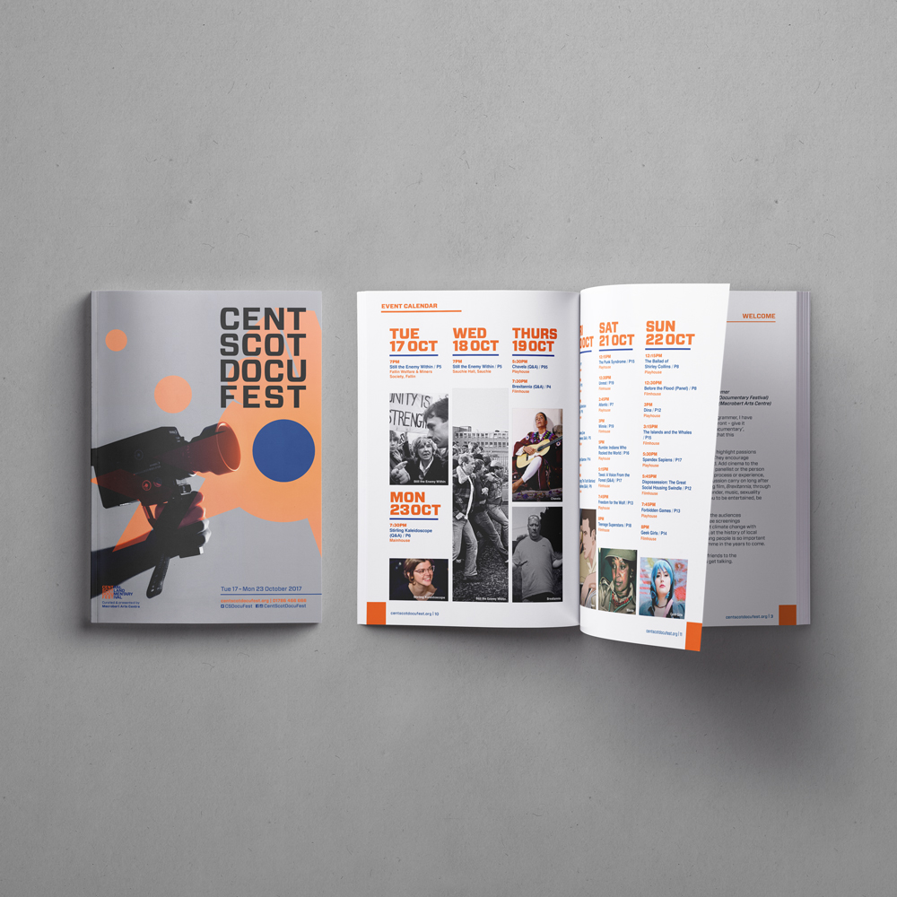Central Scotland Documentary Festival Brochure
