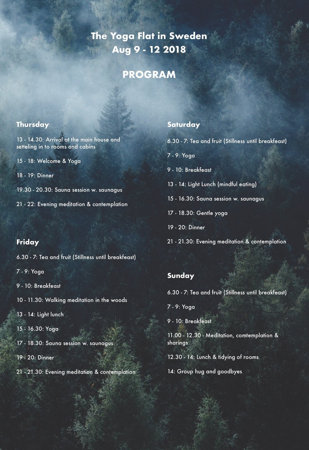 Program-Sweden-retreat-the-yoga-flat-copenhagen-christianshavn