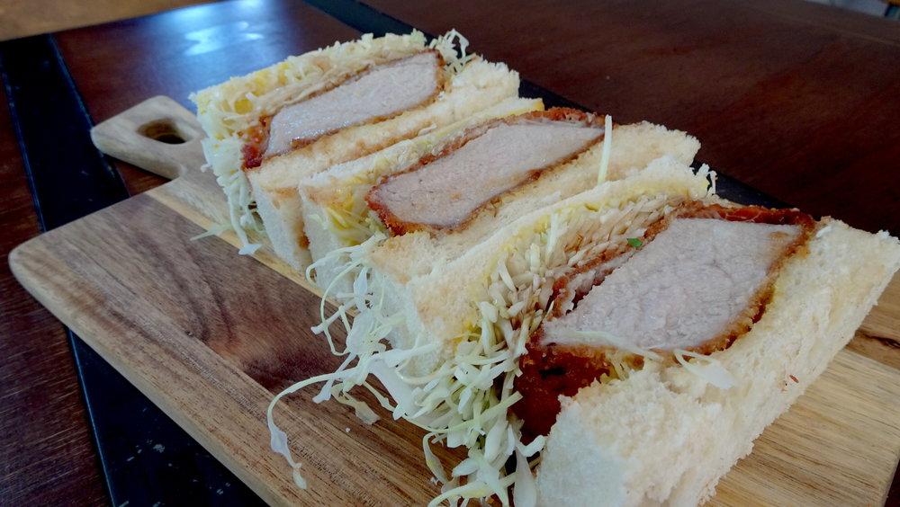 Cafe Kentaro Surry Hills Sydney Cafe Kentaro Surry Hills Sydney Pork Katsu sandwich