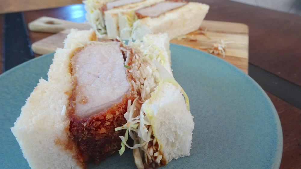 Cafe Kentaro Surry Hills Sydney Pork Katsu sandwich