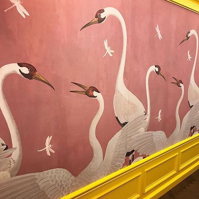 gucci heron print wallpaper