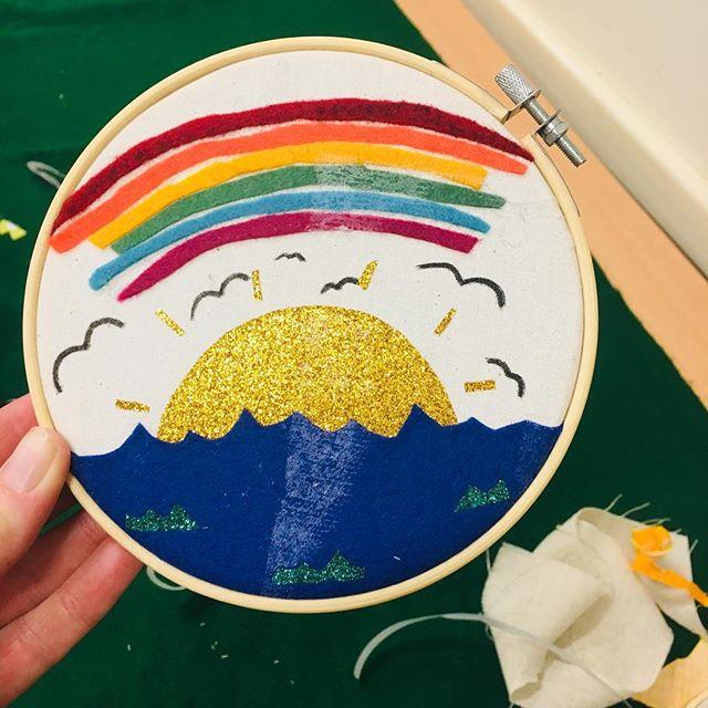 Some of the amazing textile collages made at the workshop yesterday at Bower Cottages Community Centre.  #schoolholidayworkshops #kidsworkshops #kidsart