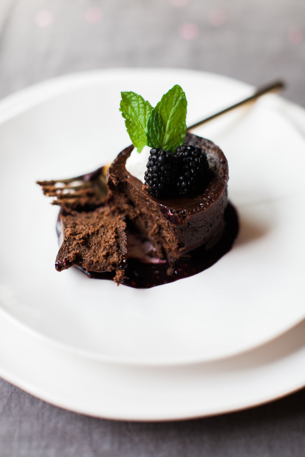 Easter Dessert | Flourless Chocolate Blackberry Cake | Feast & Dwell