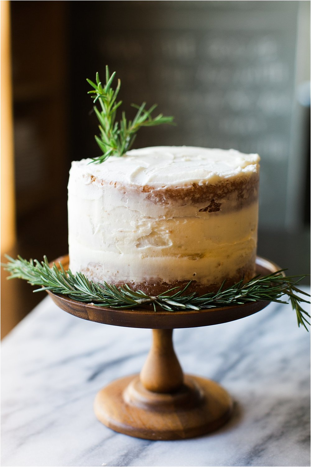 Lemon Curd Cake with Rosemary Buttercream | Feast & Dwell