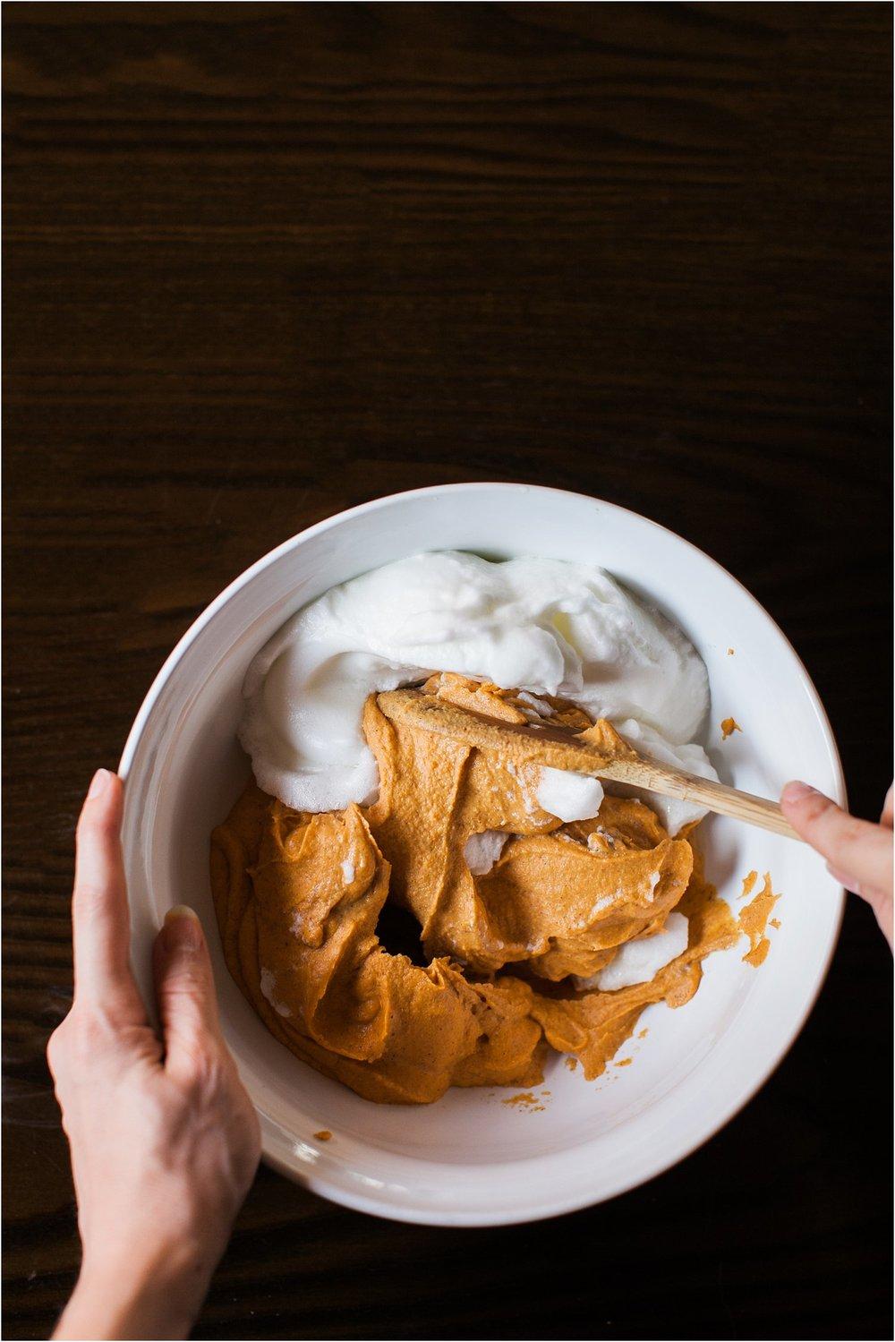 Gluten Free Sweet Potato Pancakes with Greek Yogurt & Blackberry Syrup