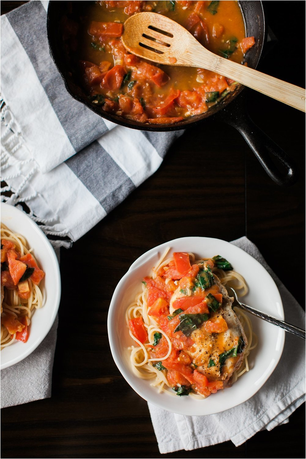 Gluten Free Chicken and Pasta with Tomato Butter Sauce | Feast & Dwell