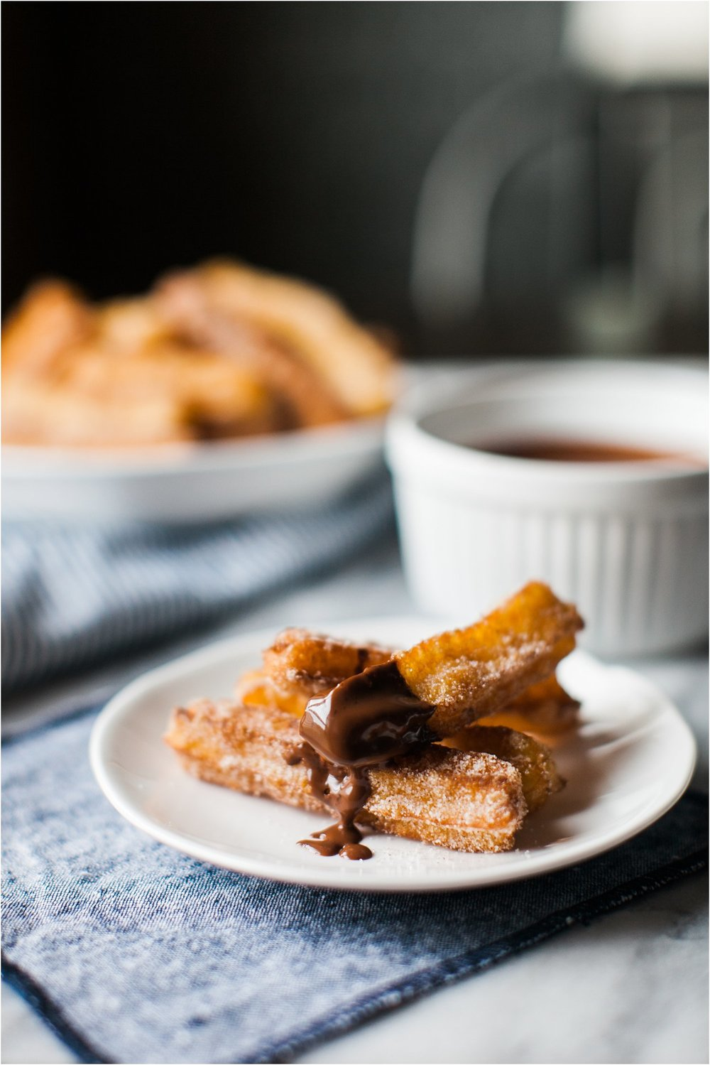 Churros with Espresso Dipping Chocolate | Cinco de Mayo | Feast & Dwell