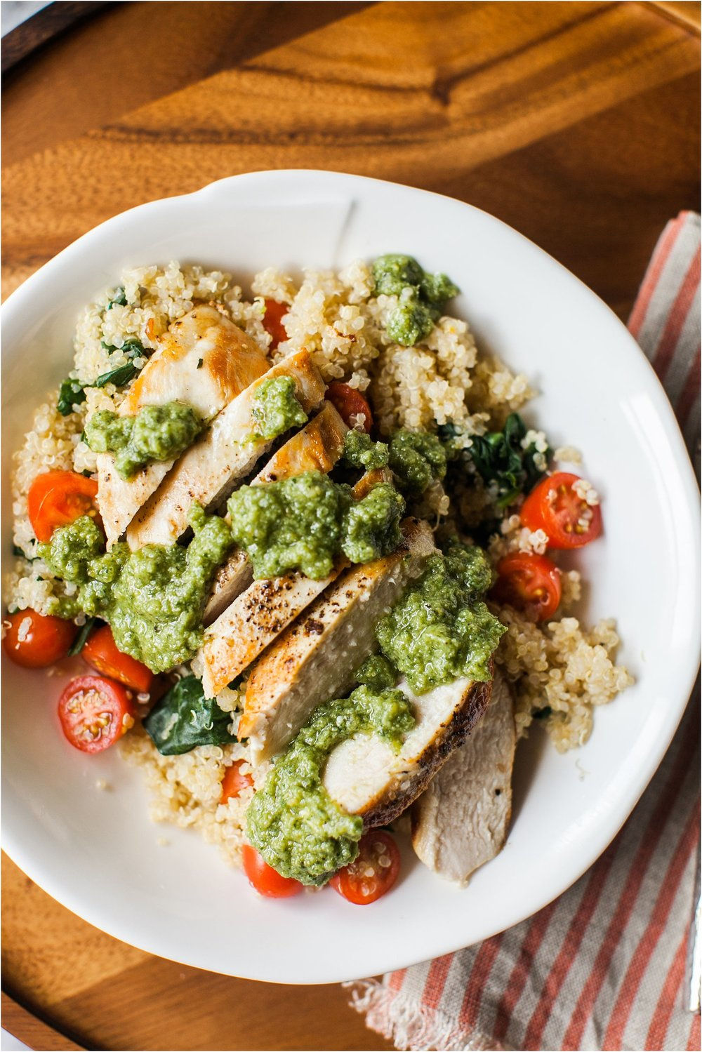 Chicken Pesto Quinoa Bowl | Easy Dinner Recipe | Feast & Dwell