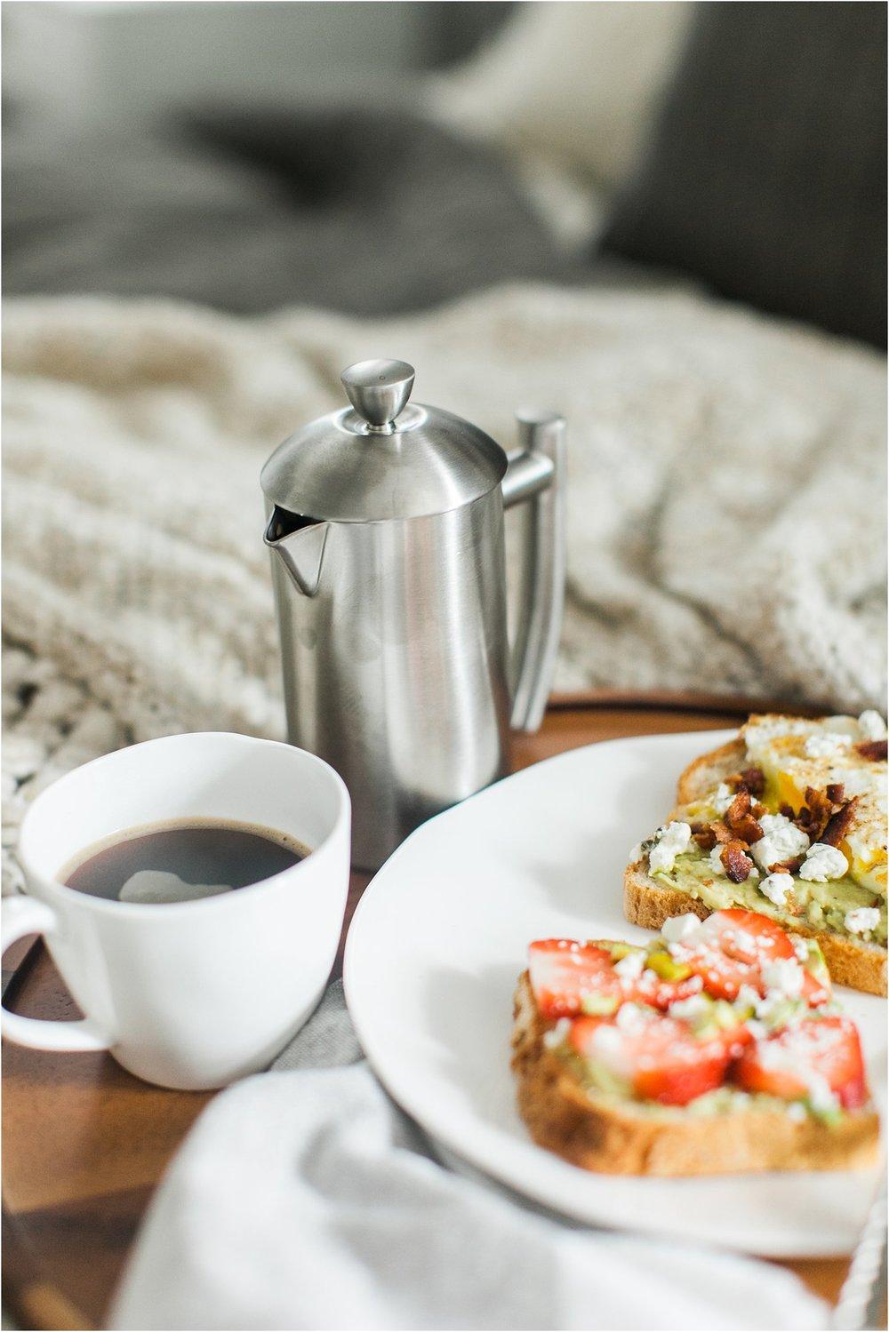 Breakfast in Bed | Avocado Toast Two Ways