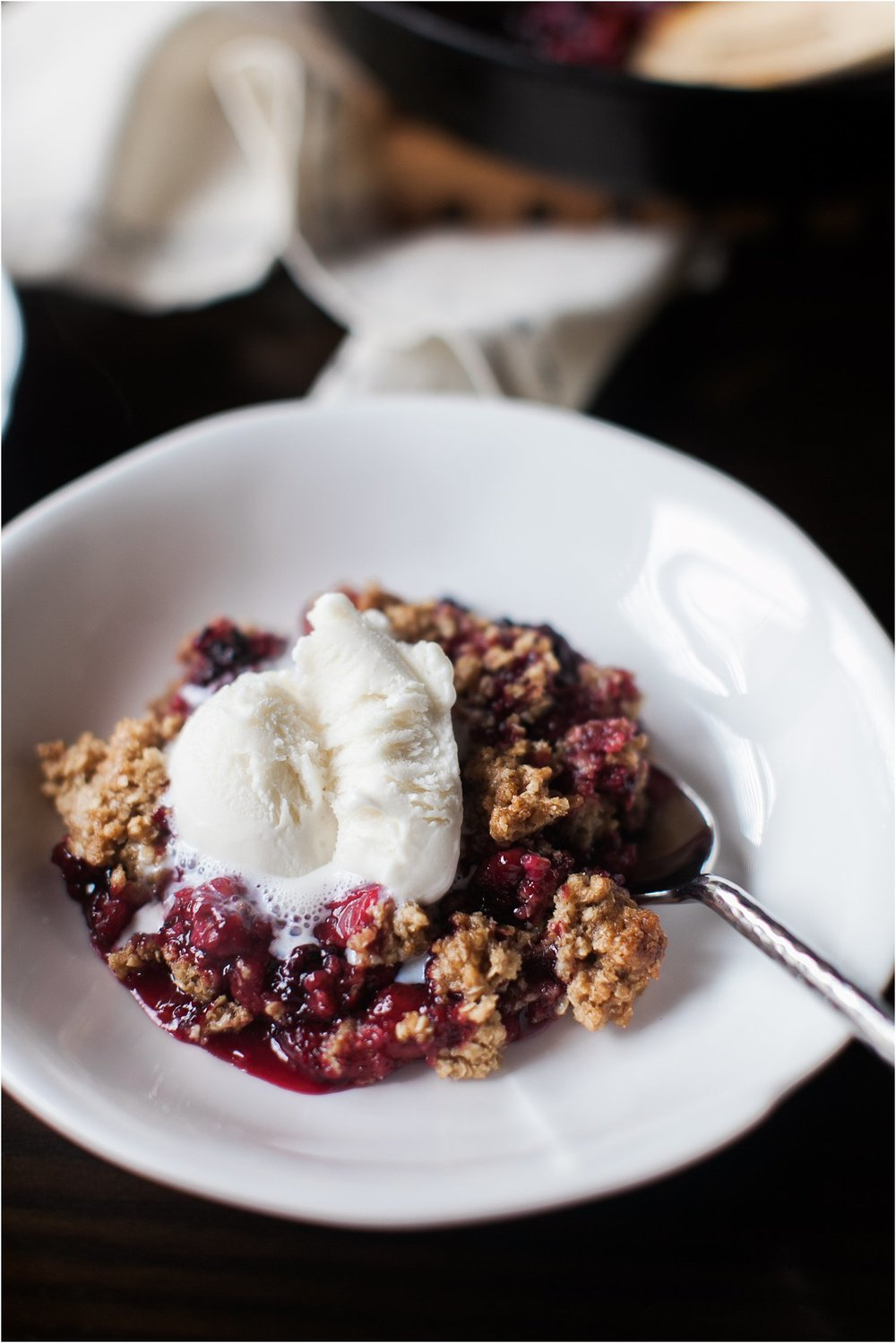 Gluten Free Blackberry & Strawberry Crumble | Feast & Dwell