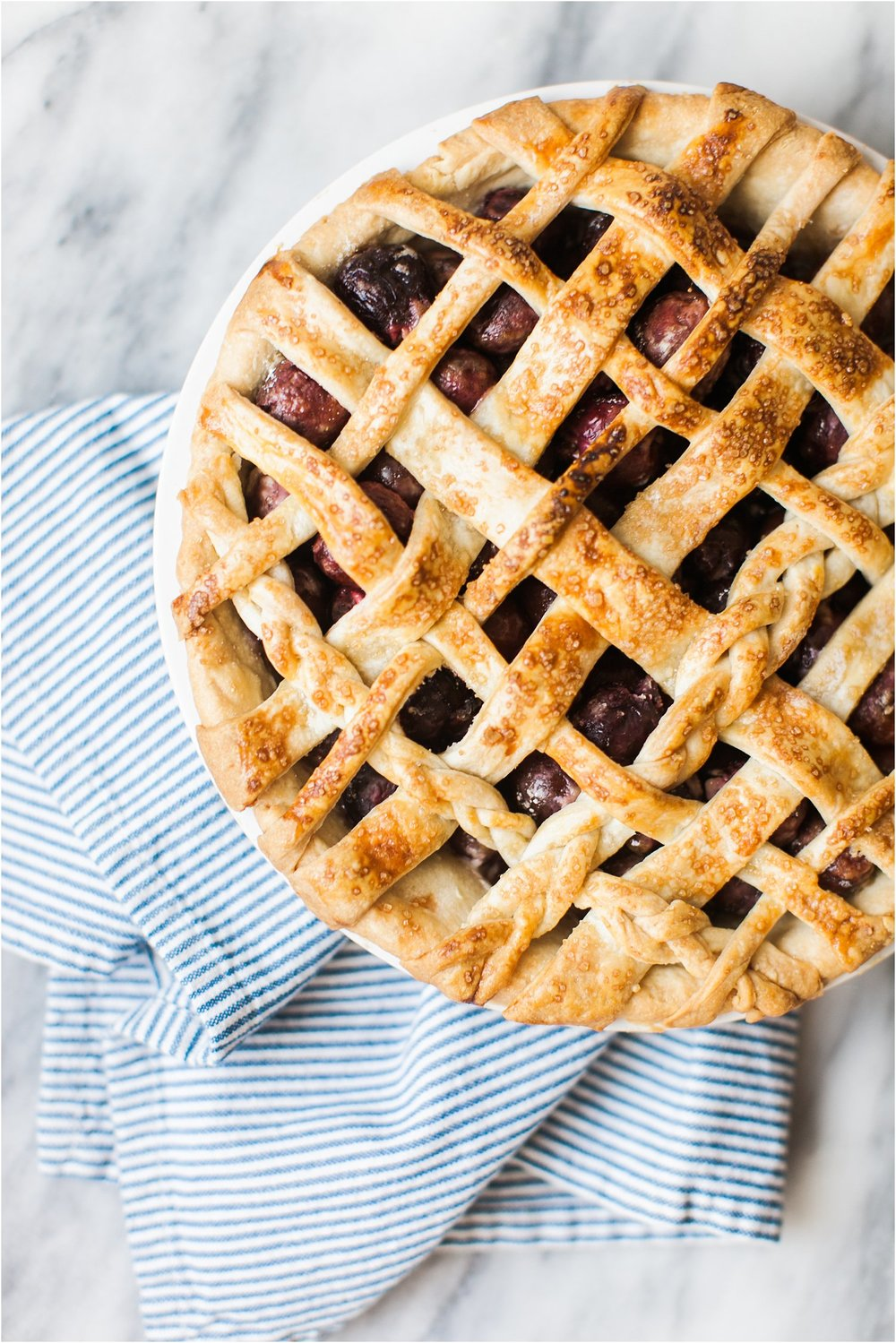 Sweet Cherry Pie with Mascarpone Whipped Cream | Memorial Day Dessert | Feast & Dwell