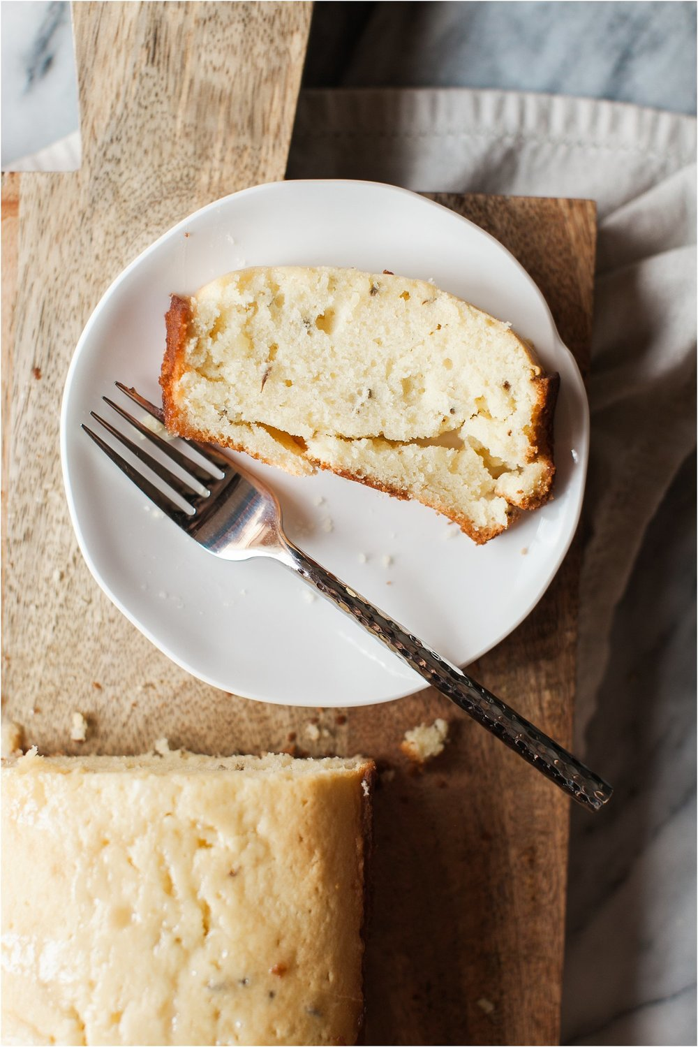 Lemon Lavender Pound Cake with Lemon Glaze | Summer Dessert | Feast & Dwell