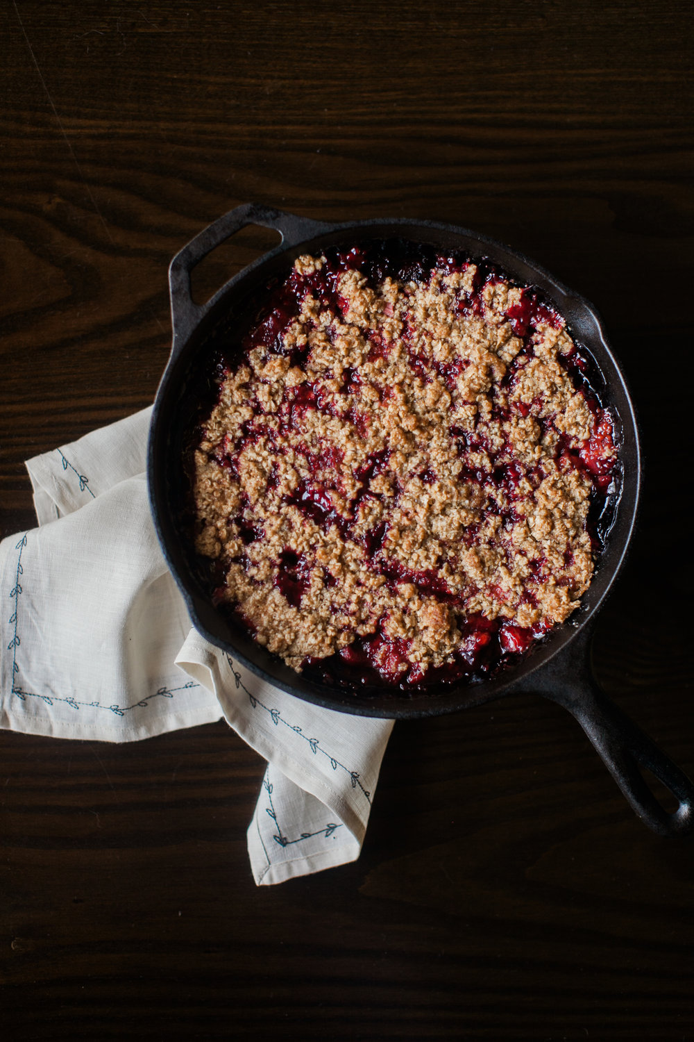 Gluten Free Blackberry & Strawberry Crumble