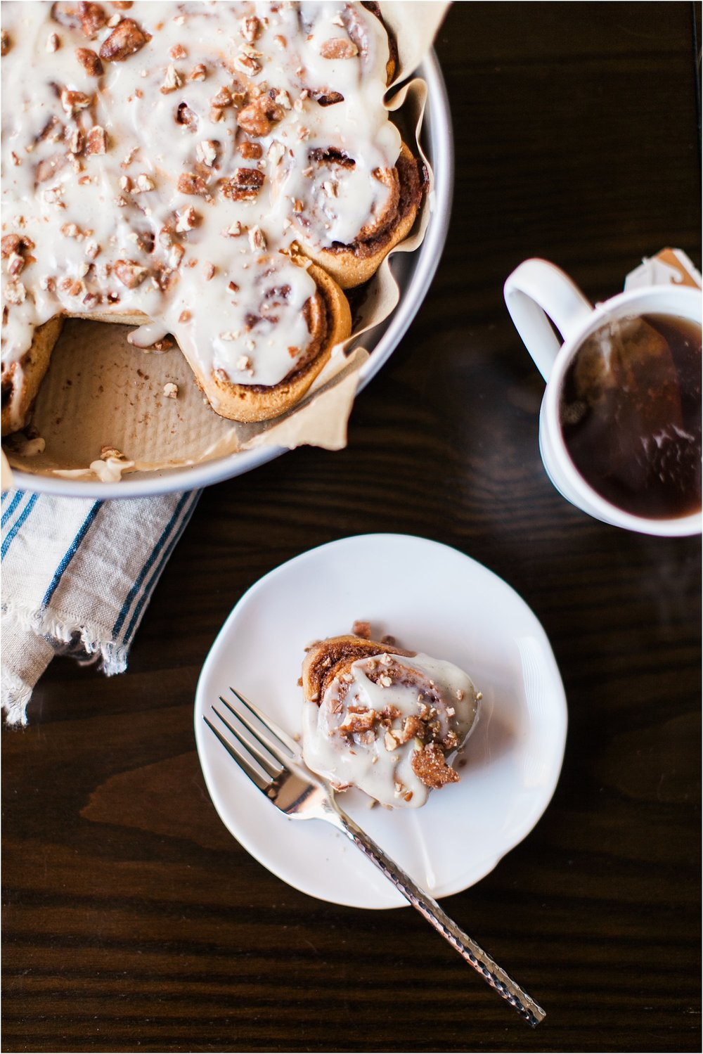 Gluten Free Cinnamon Rolls with Pumpkins Pie Spice, Cream Cheese Frosting & Honey Roasted Pecans | Feast & Dwell