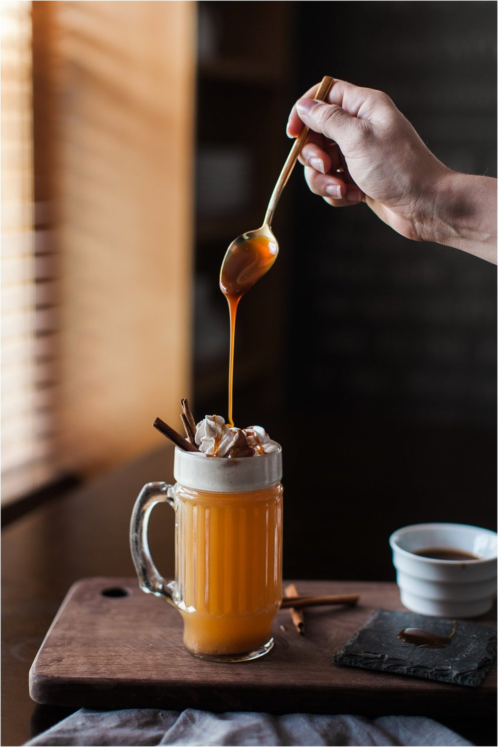 Caramel Apple Cider with Spiced Whipped Cream | Feast & Dwell