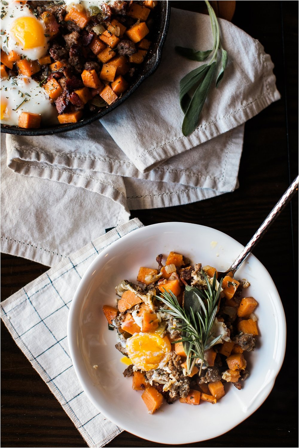 Sweet Potato Hash with Rosemary and Sage | Feast & Dwell