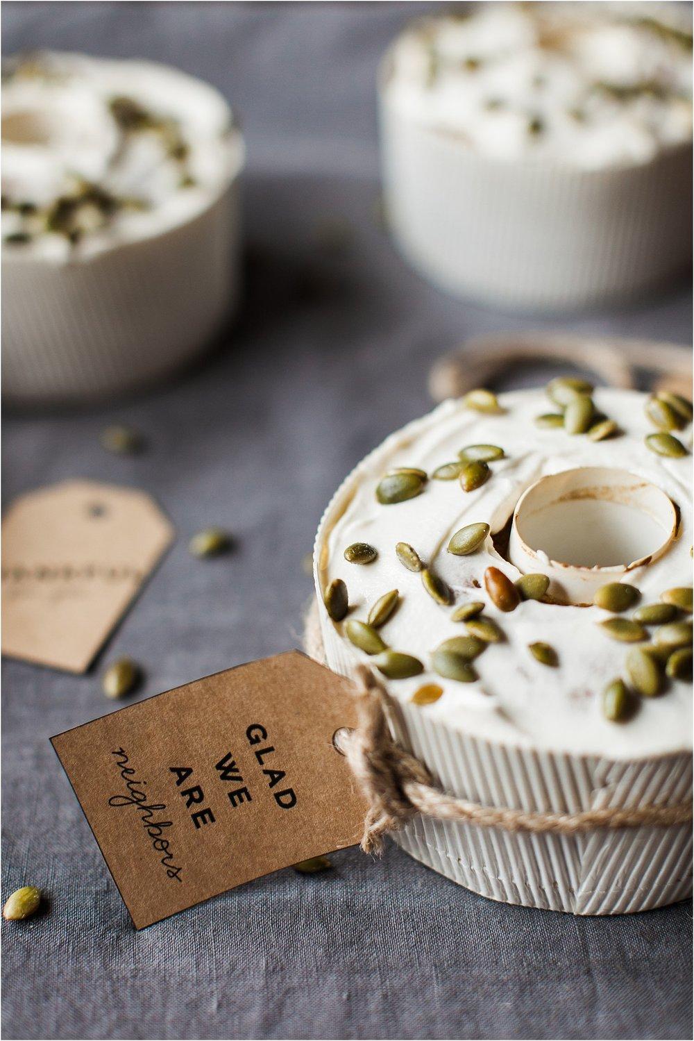 Pumpkin Spice Bundt Cakes + Tags for Neighbors | Feast & Dwell