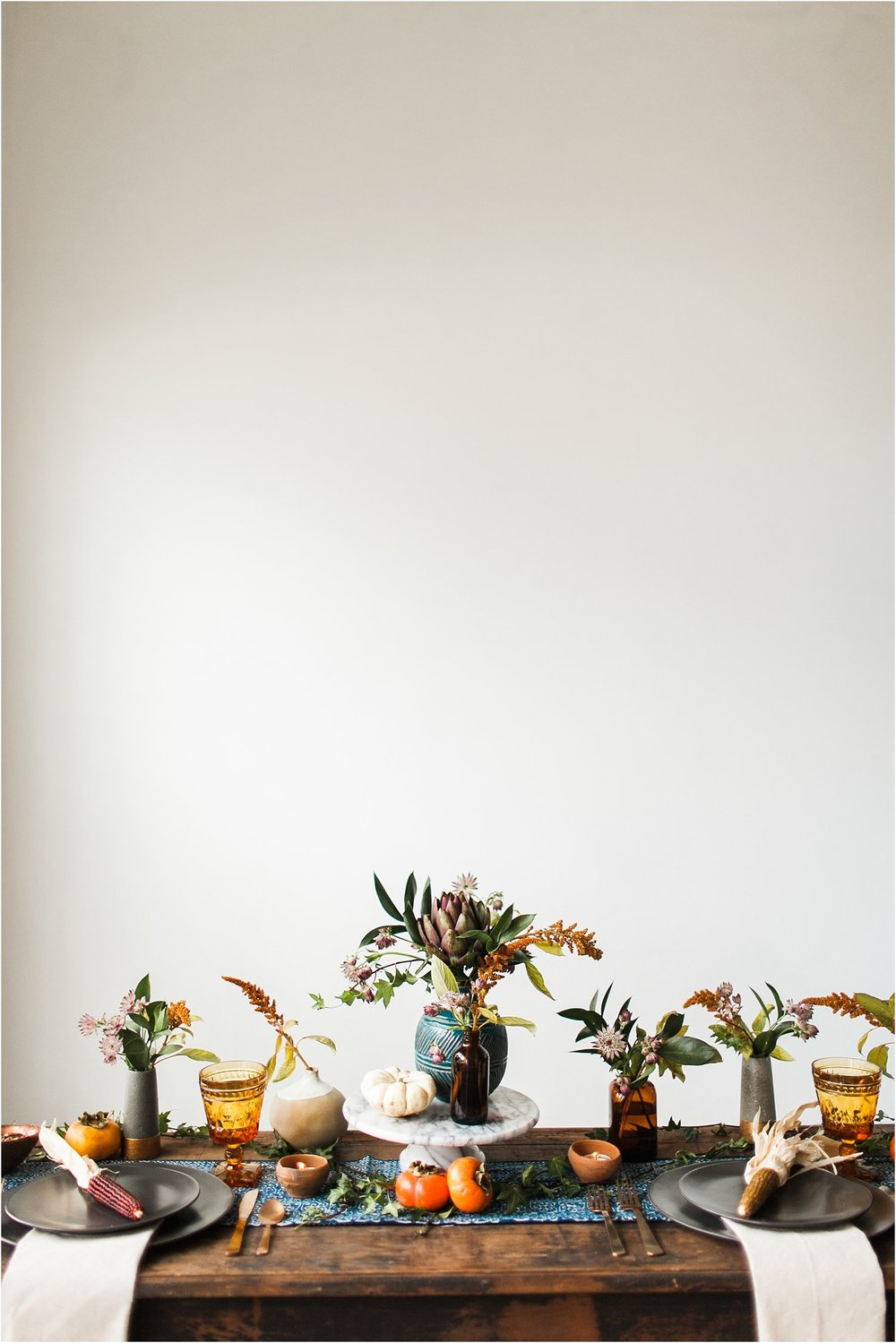 Moody Thanksgiving Table Inspiration with Birch & Brass Vintage Rentals | Feast & Dwell