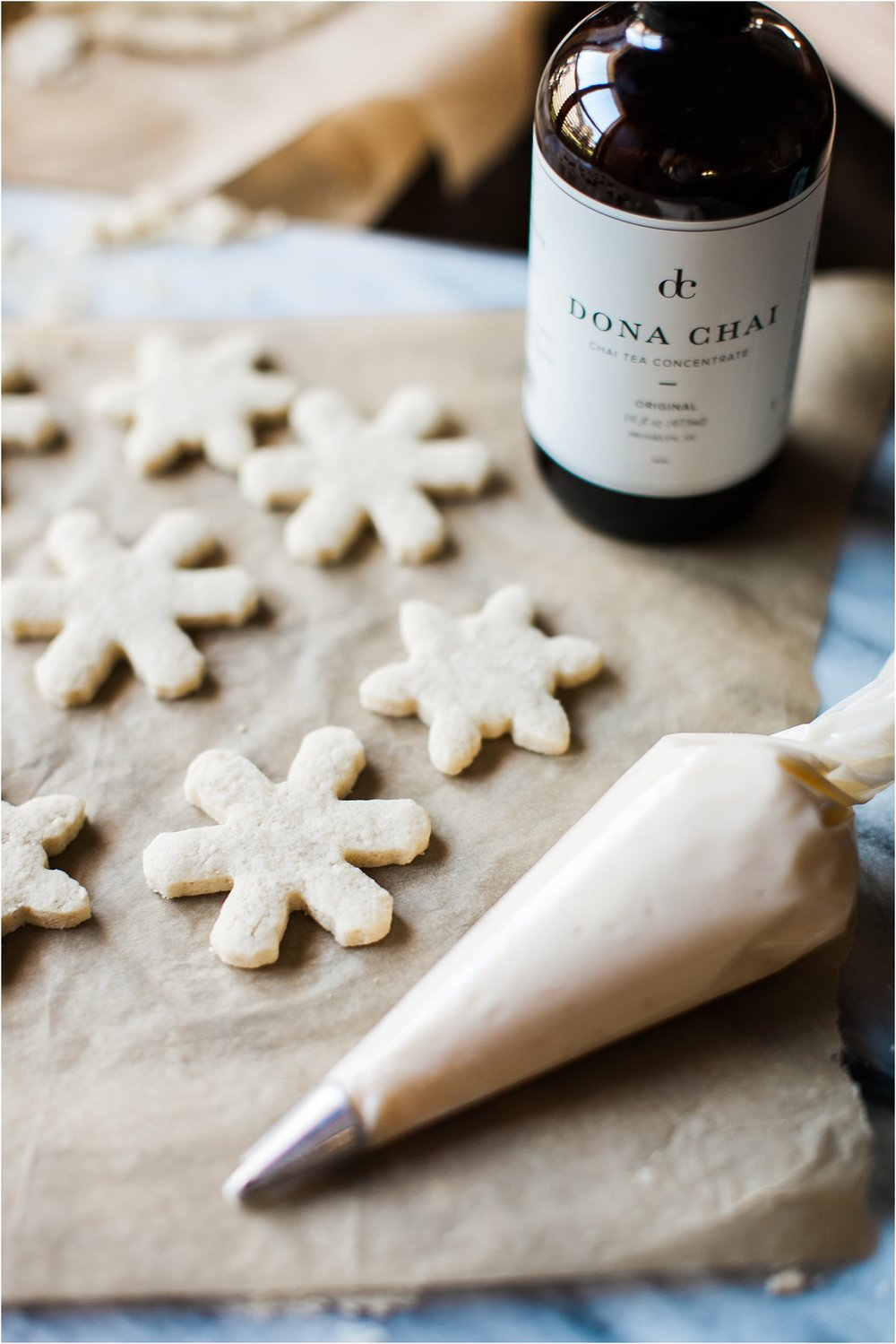 Gluten Free Almond Sugar Cookies with Chai Spiced Buttercream Frosting + Tips for Decorating | Feast & Dwell